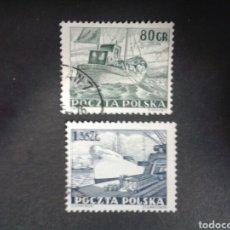 Timbres: SELLOS DE POLONIA. YVERT 711/2. SERIE COMPLETA USADA. BARCOS. . Lote 66975926