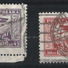 Sellos: POLONIA 1925 CORREO AÉREO DOS FINALES DE SERIE. Lote 69861909