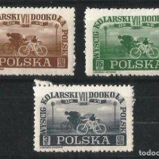 Sellos: POLONIA 1948 VUELTA CICLISTA A POLONIA NUEVOS . Lote 69862221