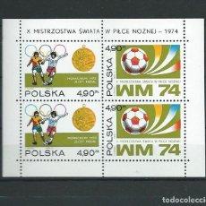 Sellos: POLONIA , 1974, HOJA BLOQUE Nº 65 , MNH**. Lote 70129661