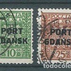Timbres: DANTZING,GDANSK,CORREO POLACO,1929,USADO. Lote 70594962