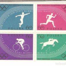 Timbres: POLONIA 1960,LOTE DOS BLOQUE 4 VALORES,CAT. YT.1031/1034 Y 1035/1038.G.ORIGINAL,NUEVOS,SIN FIJAS.. Lote 71857907