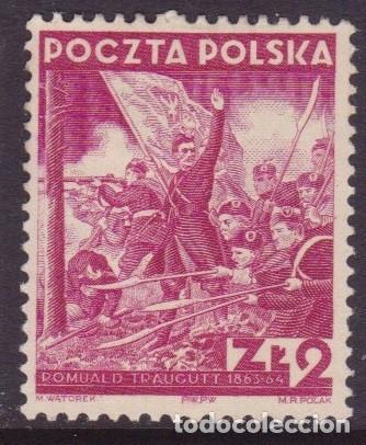 POLONIA,ROMUALD TRAUGUTT,1938, SIN GOMA (Sellos - Extranjero - Europa - Polonia)