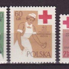 Timbres: POLONIA,1959,40 ANIVERSARIO DE LA CRUZ ROJA POLACA,NUEVOS CON CHARNELA, MH. Lote 72183006