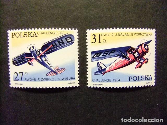 POLONIA POLOGNE 1982 AVIONES AVIONS YVERT & TELLIER Nº 2620 / 2621 ** (Sellos - Extranjero - Europa - Polonia)