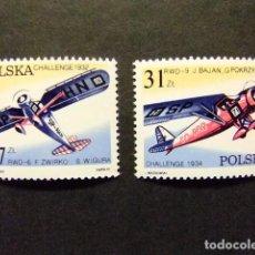 Sellos: POLONIA POLOGNE 1982 AVIONES AVIONS YVERT & TELLIER Nº 2620 / 2621 **. Lote 72218587