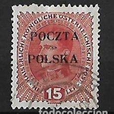 Sellos: POLONIA 1919 GOBIERNO PROVISIONAL SELLO DE AUSTRIA DE 1916-18 CON SOBRECARGA DE CRACOVIA. Lote 74188827