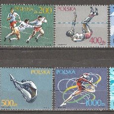 Timbres: POLONIA, 1990,CAT.YT.3064 A 3069 Y 3080 Y 3081.. Lote 74570563