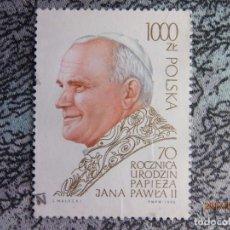 Sellos: PAPA JUAN PABLO II - POLSKA - POLONIA - USADO. Lote 79630425