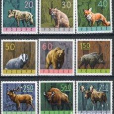 Sellos: POLONIA 1965 IVERT 1483/91 *** FAUNA - ANIMALES DIVERSOS DEL BOSQUE. Lote 86131184