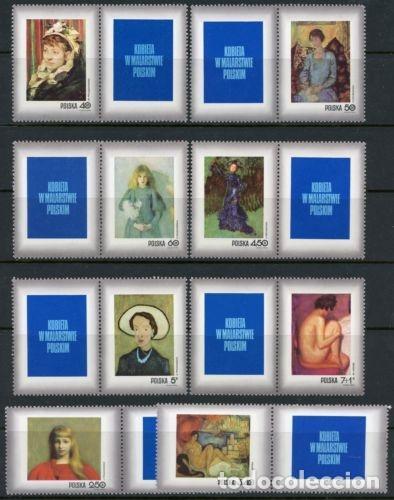 POLONIA 1971 IVERT 1957/64 *** DÍA DEL SELLO - CUADROS DEL MUSEO NACIONAL DE CRACOVIA - PINTURA (Sellos - Extranjero - Europa - Polonia)