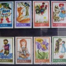 Sellos: POLONIA 1968 IVERT 1678/85 *** FABULAS Y CUENTOS. Lote 86572980