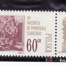 Timbres: POLONIA 1971 IVERT 1925 *** 50º ANIVERSARIO DE LA 3ª SUBLEVACIÓN POLACA EN SILESIE. Lote 86669024