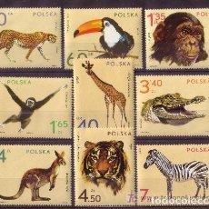 Sellos: POLONIA 1972 IVERT 2007/15 *** FAUNA - ANIMALES DEL ZOO. Lote 86716116