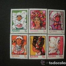 Sellos: POLONIA 1983 IVERT 2703/8 *** TRAJES REGIONALES - FOLKLORE FEMENINO. Lote 86855640