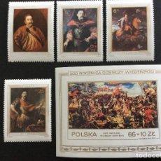 Sellos: POLONIA Nº YVERT 2691/4+HB 101*** AÑO 1983. 300 ANIVERSARIO LEVANTAMIENTO DE VIENA. Lote 88207860