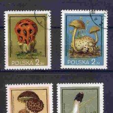 Timbres: HONGOS DE POLONIA. SELLOS AÑO 1980. Lote 88636320