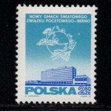 Sellos: POLONIA 1857** - AÑO 1970 - NUEVA SEDE DE LA UNION POSTAL INTERNACIONAL. Lote 259038835