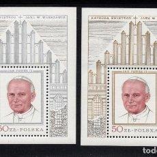 Sellos: POLONIA HB 83/84** - AÑO 1979 - VISITA DEL PAPA JUAN PABLO II. Lote 127169222
