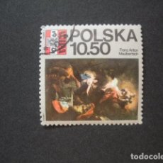 Sellos: POLONIA 1981 IVERT 2552 - WIPA 1981 - EXPOSICION FILATÉLICA EN VIENA - PINTURA. Lote 94581283
