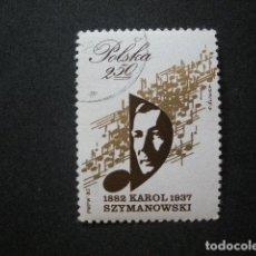 Sellos: POLONIA 1982 IVERT 2626 - CENTENARIO DEL NACIMIENTO DEL COMPOSITOR KAROL SZYMANOWSKI - MÚSICA. Lote 94583391