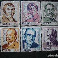 Sellos: POLONIA 1983 IVERT 2669/74 - PERSONAJES CÉLEBRES. Lote 94584947