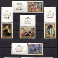Sellos: POLONIA 1791/98** - AÑO 1969 - ARTE - OBRAS DE PINTORES POLACOS. Lote 95508303