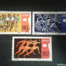Timbres: POLONIA. YVERT 1860/2. SERIE COMPLETA USADA. DEPORTES.. Lote 109134402