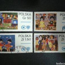 Timbres: POLONIA. YVERT 2427/30. SERIE COMPLETA USADA. DIBUJOS INFANTILES. Lote 109510035