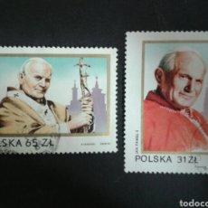 Sellos: POLONIA. YVERT 2681/2. SERIE COMPLETA USADA. PAPA JUAN PABLO II.. Lote 109510274