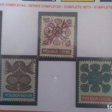 Sellos: POLONIA. BORDADOS, EMISIÓN DE 1971, N 1939/43. Lote 109527571