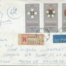 Sellos: 1984. POLONIA/POLAND. KATOWICE-PALMA. INTERESANTE FRANQUEO. ATTRACTIVE POSTAGE. VER FOTOS.. Lote 112596923