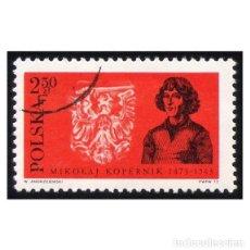 Timbres: POLONIA 1972. MICHEL PL 2184, YVERT PL 2029. HISTORIA. COPÉRNICO Y ESCUDO DEL REY DE PRUSIA. Lote 113815379
