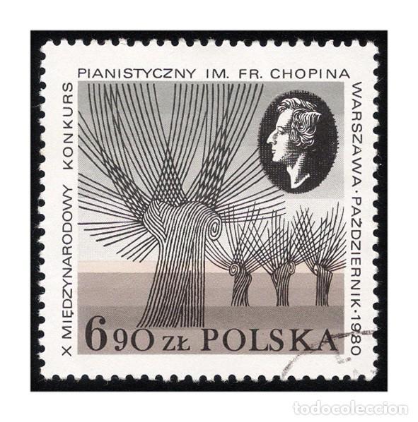 POLONIA 1980. MICHEL PL 2714, YVERT PL 2531. MÚSICA. CONCURSO DE PIANO CHOPIN. USADO (Sellos - Extranjero - Europa - Polonia)
