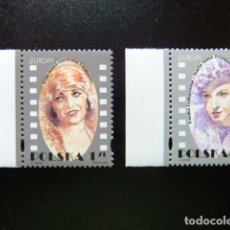 Sellos: POLONIA 1996 EUROPA MUJERES FAMOSAS DEL CINE YVERT N 3371 / 3372 ** MNH. Lote 121615287