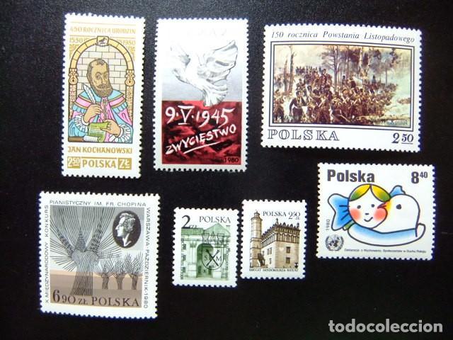 POLONIA POLOGNE YVERT 2500 + 2536 + 2537 + 2529 + 2509 + 2516 + 2531 ** MNH (Sellos - Extranjero - Europa - Polonia)