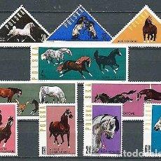 Timbres: POLONIA,1963,CABALLOS,NUEVOS,MNH**,YVERT 1312-1321. Lote 131469187
