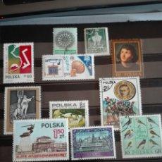 Sellos: SELLOS POLONIA (POLSKA) AÑOS 70. CON MATASELLOS. PAJAROS. HISTORIA. Lote 133241751
