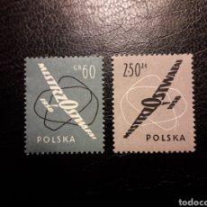 Sellos: POLONIA. YVERT 935/6. SERIE COMPLETA NUEVA SIN CHARNELA. PLANEADORES. AVIONES. AVIACIÓN.. Lote 140342656