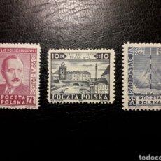 Sellos: POLONIA. YVERT 551/3. SERIE COMPLETA NUEVA CON CHARNELA. PRESIDENTE BEIRUT. LIBERACIÓN.. Lote 140343392