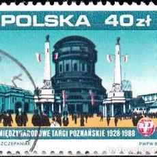 Sellos: 1988 - POLONIA - RECINTO FERIAL DE POZNAN - TORRE DE ALTA SILESIA - YVERT 2988. Lote 143319510