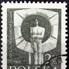 Sellos: 1981 - POLONIA - MEMORIAL A LOS REBELDES DE SILESIA - JAN BOROWCZAK - YVERT 2544. Lote 143361450