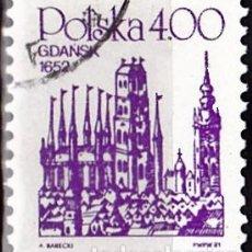 Sellos: 1981 - POLONIA - CIUDADES - GRABADOS ANTIGUOS - GDANSK 1652 - YVERT 2568. Lote 143371090