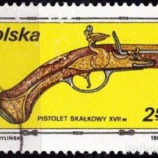 Sellos: 1981 - POLONIA - ARMAS - PISTOLA SIGLO XVII - YVERT 2585. Lote 143489490