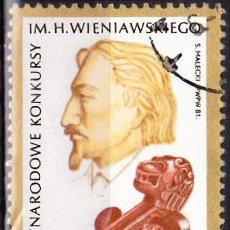 Sellos: 1981 - POLONIA - MUSICA - HENRYK WIENIAWSKI - COMPOSITOR Y VIOLINISTA - YVERT 2587. Lote 143490578