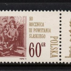 Sellos: POLONIA 1925** - AÑO 1971 - 50º ANIVERSARIO DEL 3º LEVANTAMIENTO POLACO EN SILESIA. Lote 236435185
