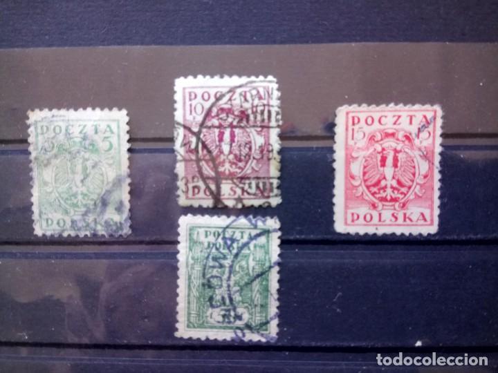POLONIA 1919, ESCUDO. YT 159,161,162 Y166 (Sellos - Extranjero - Europa - Polonia)