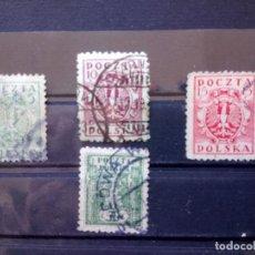 Sellos: POLONIA 1919, ESCUDO. YT 159,161,162 Y166. Lote 151091398