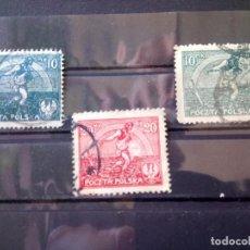 Sellos: POLONIA 1921, SEMBRADOR, YT 224,224A, 226. Lote 151091842