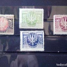 Sellos: POLONIA 1923, ESCUDO, YT 262,263,265 Y 267. Lote 151092782